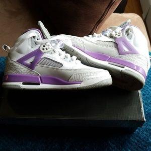 Jordan Spizike (gs) white/violetpop grey